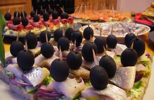 канапе черным хлебом рецепты фото